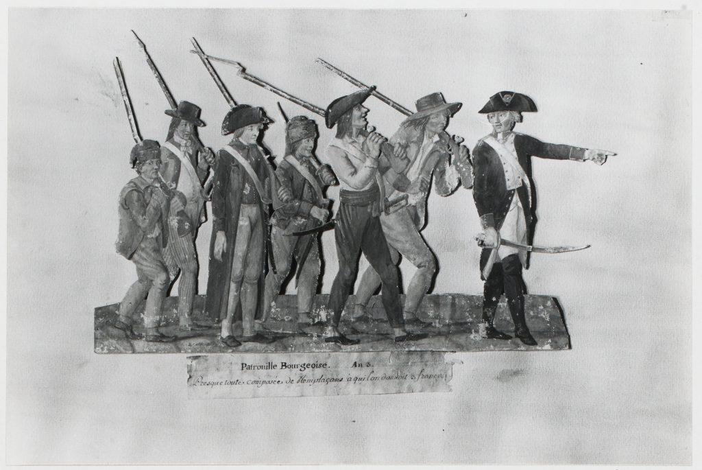 Patrouille bourgeoise de Jean-Baptiste Lesueur. Musée Carnavalet, Histoire de Paris