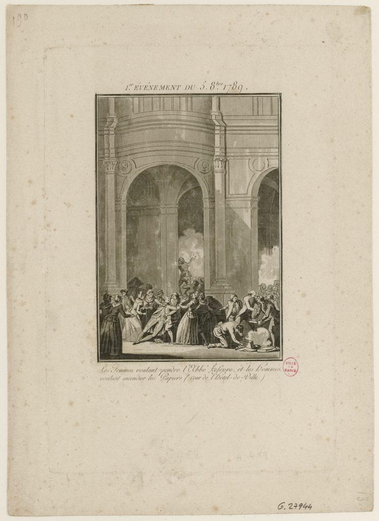 En parallèle à l'assaut du château de Versailles, certaines femmes s'imposent au sein de l'Assemblée Constituante qui siégeait alors à Versailles et lui exposent leurs revendications. Elles obtiennent que le blé stocké à Senlis et à Lagny soit amené à Paris pour contrer la famine, ainsi que l'obligation pour les Gardes du Corps du Roi du porter de la cocarde nationale.