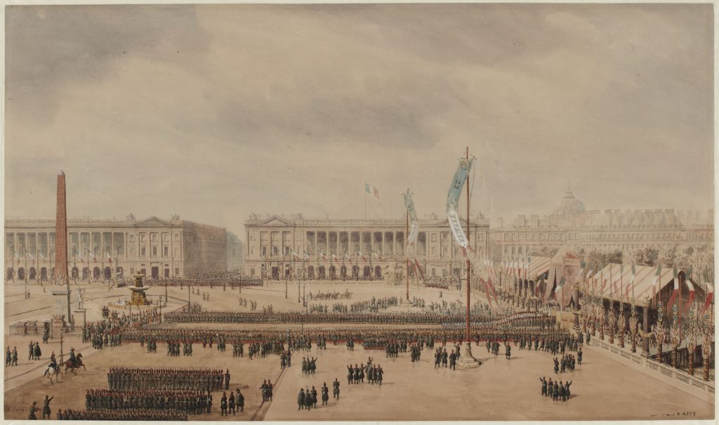 Proclamation de la République de 1848 sur la place de la Concorde.