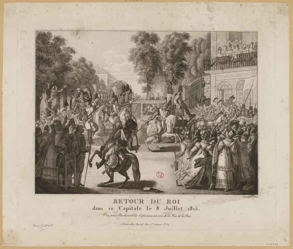 RETOUR DU ROI / dans sa Capitale le 8 Juillet 1815.(TI)