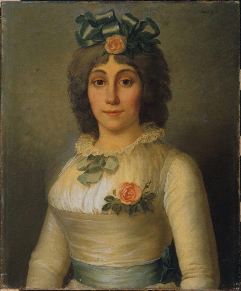 PORTRAIT DE FEMME, AUTREFOIS IDENTIFIEE COMME ANNE JOSEPHE THEROIGNE DE MERICOURT